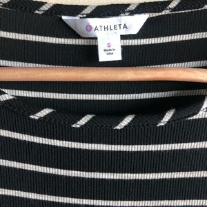 Athleta Dresses - Athleta black and white Sunkissed striped dress